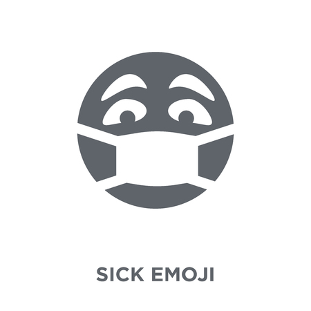 Sick emoji icon. Sick emoji design concept from Emoji collection. Simple element vector illustration on white background.