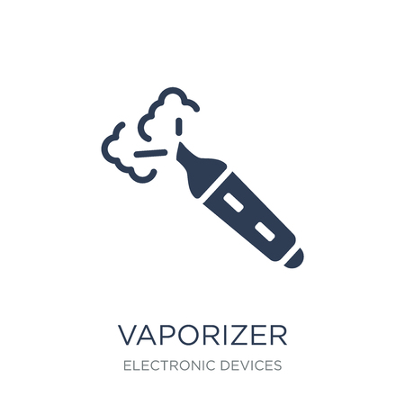 vaporizer icon. Trendy flat vector vaporizer icon on white background from Electronic devices collection, vector illustration can be use for web and mobile, eps10