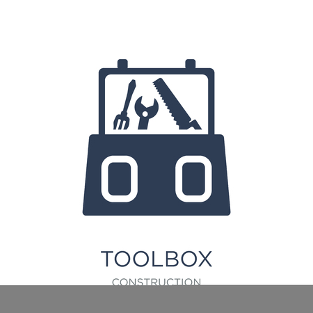 Toolbox icon. Trendy flat vector Toolbox icon on white background from Construction collection, vector illustration can be use for web and mobile, eps10