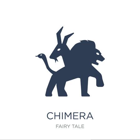 Chimaera pictogram. Trendy platte vector Chimera pictogram op witte achtergrond uit sprookje collectie, vectorillustratie kan worden gebruikt voor web en mobiel, eps10 Vector Illustratie