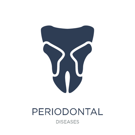 Periodontal disease icon. Trendy flat vector Periodontal disease icon on white background from Diseases collection, vector illustration can be use for web and mobile, eps10 Stock fotó - 111296886
