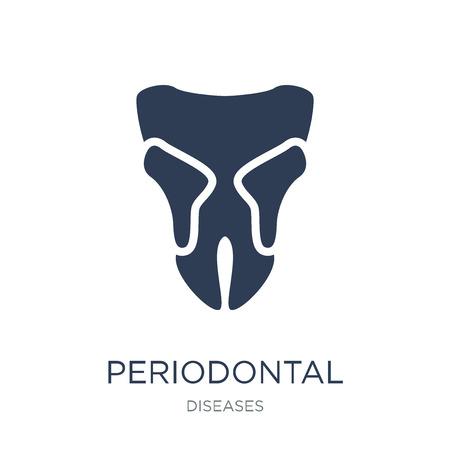 Symbol für Parodontitis. Trendiges flaches Vektorsymbol für Parodontitis auf weißem Hintergrund aus der Sammlung von Krankheiten, Vektorillustration kann für Web und Mobile verwendet werden, eps10 Vektorgrafik