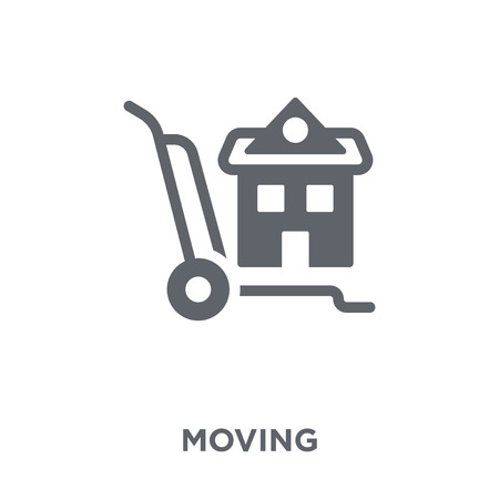 Moving icon. Moving design concept from Delivery and logistic collection. Simple element vector illustration on white background.