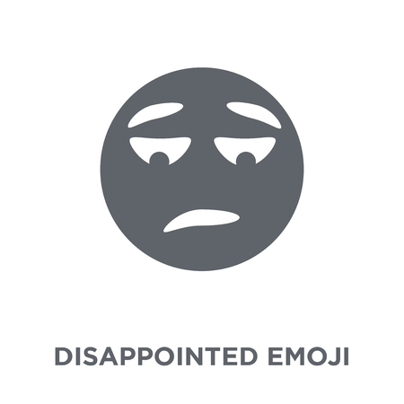 Disappointed emoji icon. Disappointed emoji design concept from Emoji collection. Simple element vector illustration on white background.