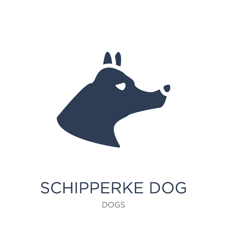 Schipperke dog icon. Trendy flat vector Schipperke dog icon on white background from dogs collection, vector illustration can be use for web and mobile, eps10 Illusztráció