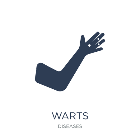 Warts icon. Trendy flat vector Warts icon on white background from Diseases collection, vector illustration can be use for web and mobile, eps10 Stock Illustratie