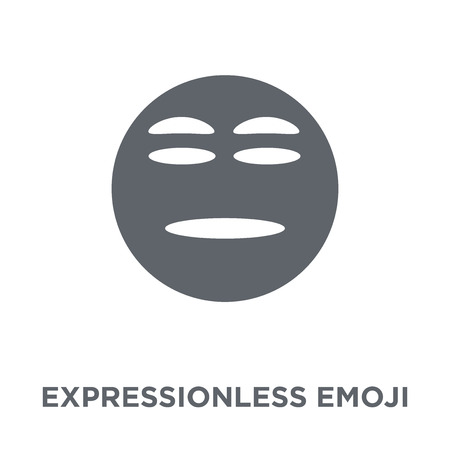 Expressionless emoji icon. Expressionless emoji design concept from Emoji collection. Simple element vector illustration on white background. Illustration