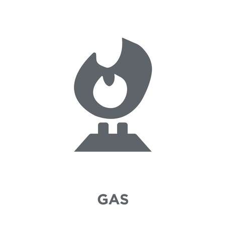 Gas icon. Gas design concept from Ecology collection. Simple element vector illustration on white background. Stockfoto - 112064096