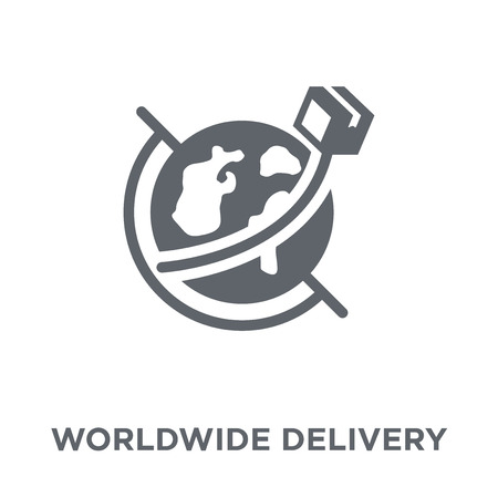 worldwide delivery icon. worldwide delivery design concept from Delivery and logistic collection. Simple element vector illustration on white background. Stock Illustratie