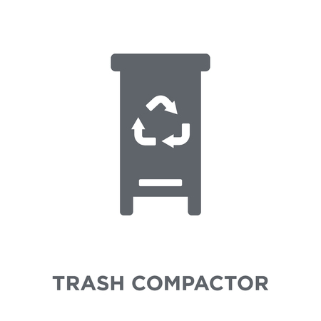 trash compactor icon. trash compactor design concept from Electronic devices collection. Simple element vector illustration on white background. Ilustracja