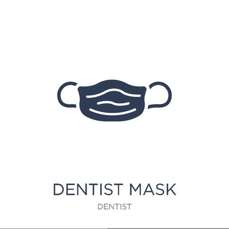 Dentist mask icon. Trendy flat vector Dentist mask icon on white background from Dentist collection, vector illustration can be use for web and mobile, eps10