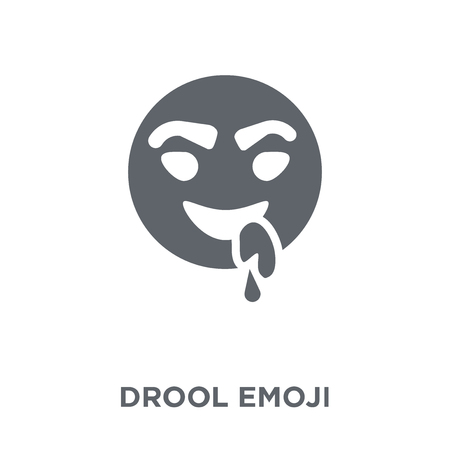 Drool emoji icon. Drool emoji design concept from Emoji collection. Simple element vector illustration on white background. 矢量图像