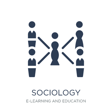 Sociology icon. Trendy flat vector Sociology icon on white background from E-learning and education collection, vector illustration can be use for web and mobile, eps10