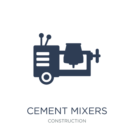 cement mixers icon. Trendy flat vector cement mixers icon on white background from Construction collection, vector illustration can be use for web and mobile, eps10