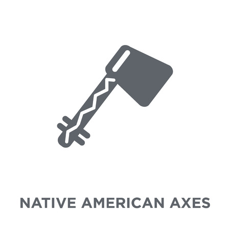 Native American Axes icon. Native American Axes design concept from American Indigenous Signals collection. Simple element vector illustration on white background.