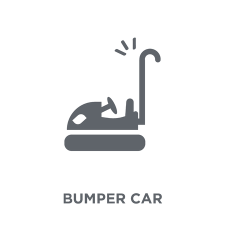 Bumper car icon. Bumper car design concept from Entertainment collection. Simple element vector illustration on white background. Reklamní fotografie - 112095343