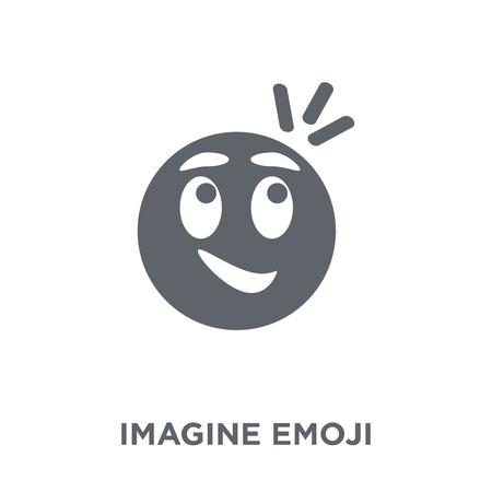 Imagine emoji icon. Imagine emoji design concept from Emoji collection. Simple element vector illustration on white background.  イラスト・ベクター素材