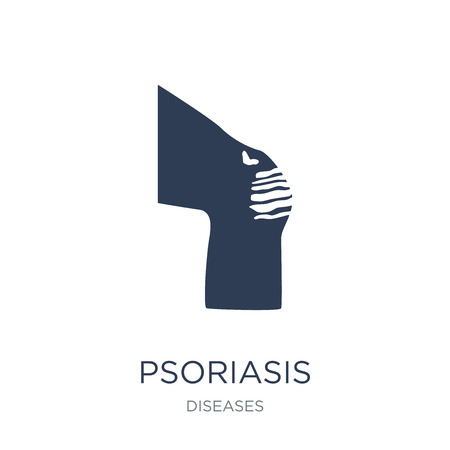 Psoriasis icon. Trendy flat vector Psoriasis icon on white background from Diseases collection, vector illustration can be use for web and mobile, eps10