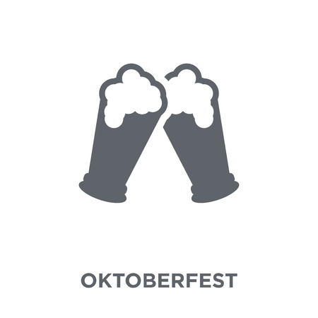 Oktoberfest icon. Oktoberfest design concept from Drinks collection. Simple element vector illustration on white background. Çizim