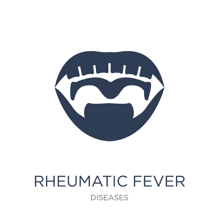Rheumatic fever icon. Trendy flat vector Rheumatic fever icon on white background from Diseases collection, vector illustration can be use for web and mobile, eps10 Stock Vector - 112095355