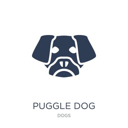 Puggle dog icon. Trendy flat vector Puggle dog icon on white background from dogs collection, vector illustration can be use for web and mobile, eps10