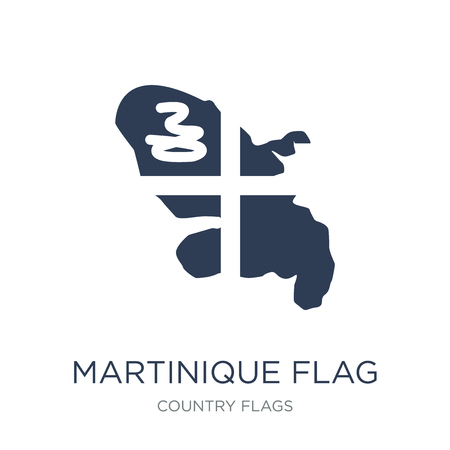 Martinique flag icon. Trendy flat vector Martinique flag icon on white background from Country Flags collection, vector illustration can be use for web and mobile, eps10