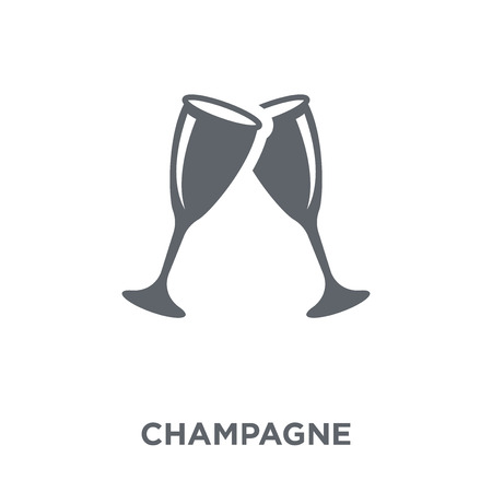 Champagne icon. Champagne design concept from Drinks collection. Simple element vector illustration on white background. Stock Vector - 111940310
