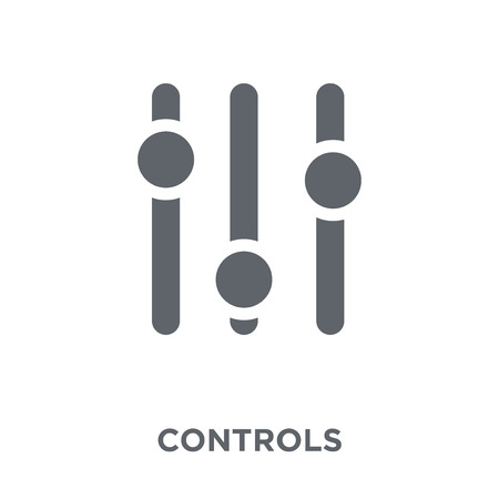 Controls icon. Controls design concept from Arcade collection. Simple element vector illustration on white background.