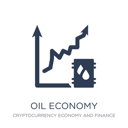 Oil economy icon. Trendy flat vector Oil economy icon on white background from Cryptocurrency economy and finance collection, vector illustration can be use for web and mobile, eps10 Illustration