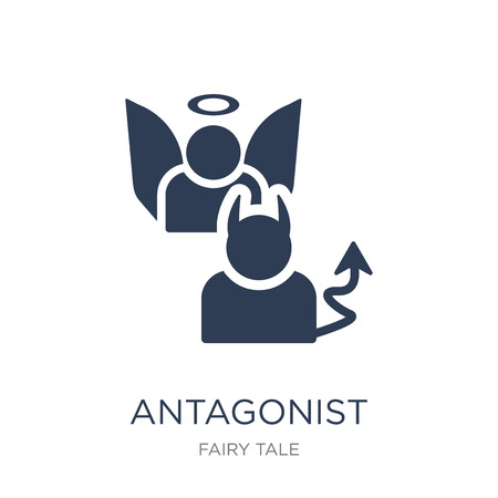 antagonist icon. Trendy flat vector antagonist icon on white background from Fairy Tale collection, vector illustration can be use for web and mobile, eps10