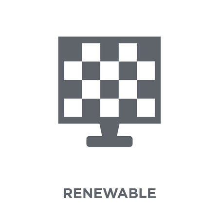 Renewable icon. Renewable design concept from Ecology collection. Simple element vector illustration on white background. Иллюстрация