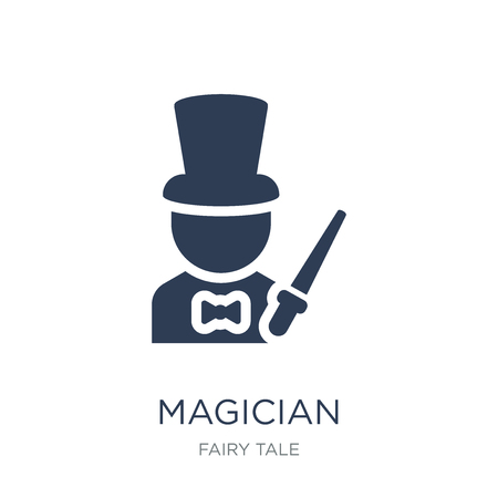 Magician icon. Trendy flat vector Magician icon on white background from Fairy Tale collection, vector illustration can be use for web and mobile, eps10