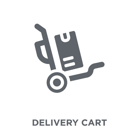 Delivery cart icon. Delivery cart design concept from Delivery and logistic collection. Simple element vector illustration on white background. Banque d'images - 111940436
