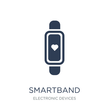 Smartband icon. Trendy flat vector Smartband icon on white background from Electronic devices collection, vector illustration can be use for web and mobile, eps10