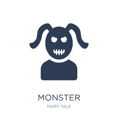 Monster icon. Trendy flat vector Monster icon on white background from Fairy Tale collection, vector illustration can be use for web and mobile, eps10