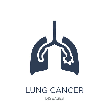 Lung cancer icon. Trendy flat vector Lung cancer icon on white background from Diseases collection, vector illustration can be use for web and mobile, eps10