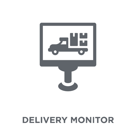 Delivery monitor icon. Delivery monitor design concept from Delivery and logistic collection. Simple element vector illustration on white background. Stock Vector - 111940443