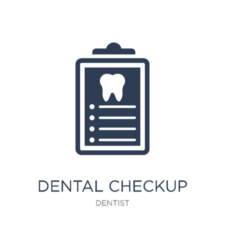 Dental Checkup icon. Trendy flat vector Dental Checkup icon on white background from Dentist collection, vector illustration can be use for web and mobile, eps10