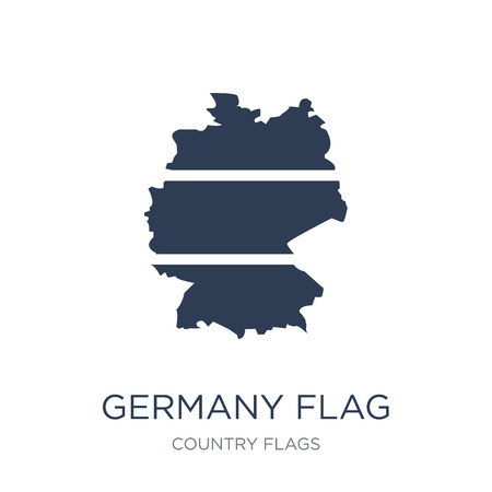 Germany flag icon. Trendy flat vector Germany flag icon on white background from Country Flags collection, vector illustration can be use for web and mobile, eps10 Ilustrace