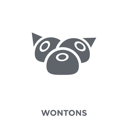 Wontons icon. Wontons design concept from Chinese Food collection. Simple element vector illustration on white background. Reklamní fotografie - 111297178