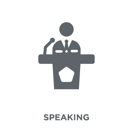 Speaking icon. Speaking design concept from Communication collection. Simple element vector illustration on white background. Ilustração