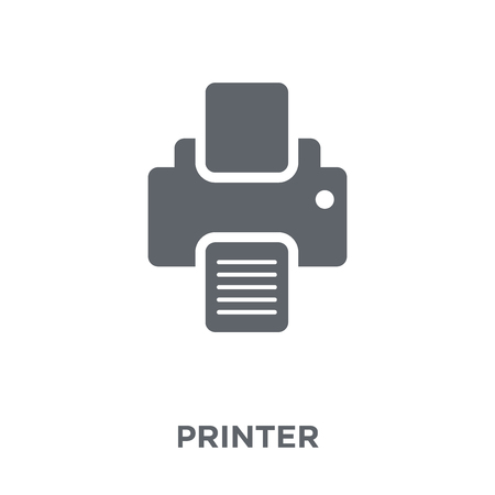 Printer icon. Printer design concept from Electronic devices collection. Simple element vector illustration on white background. Ilustração