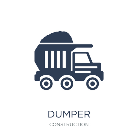 Dumper icon. Trendy flat vector Dumper icon on white background from Construction collection, vector illustration can be use for web and mobile, eps10