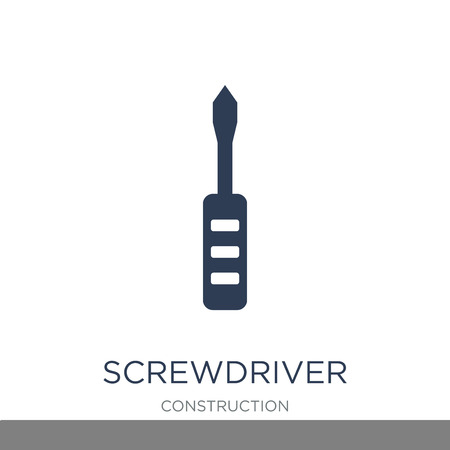 Screwdriver icon. Trendy flat vector Screwdriver icon on white background from Construction collection, vector illustration can be use for web and mobile, eps10