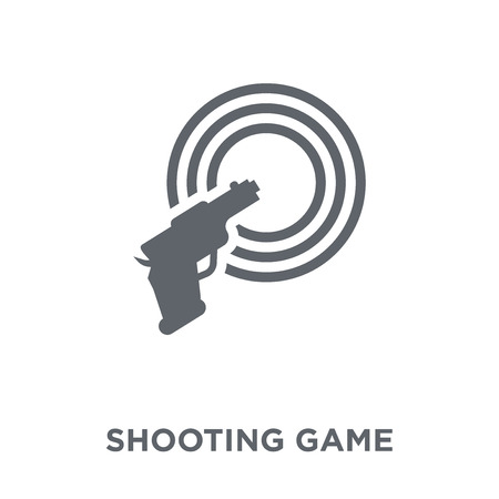 Shooting game icon. Shooting game design concept from Arcade collection. Simple element vector illustration on white background.