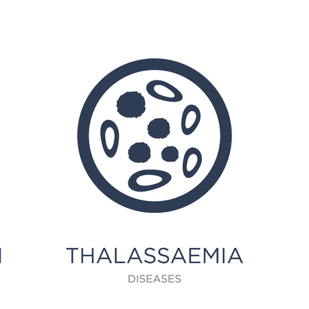 Thalassaemia icon. Trendy flat vector Thalassaemia icon on white background from Diseases collection, vector illustration can be use for web and mobile, eps10 Illustration