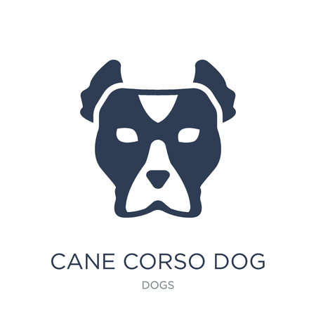 Icône de chien Cane Corso. Icône de chien Cane Corso vecteur plat sur fond blanc de la collection de chiens, illustration vectorielle peut être utilisé pour le web et mobile, eps10