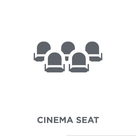 Cinema seat icon. Cinema seat design concept from Entertainment collection. Simple element vector illustration on white background.