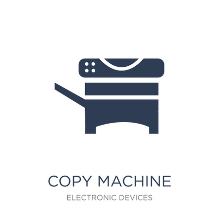 Copy machine icon. Trendy flat vector Copy machine icon on white background from Electronic devices collection, vector illustration can be use for web and mobile, eps10 Standard-Bild - 111966424