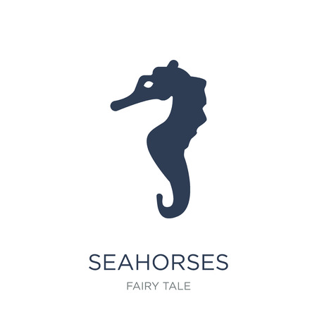 Seahorses icon. Trendy flat vector Seahorses icon on white background from Fairy Tale collection, vector illustration can be use for web and mobile, eps10 Foto de archivo - 111966425